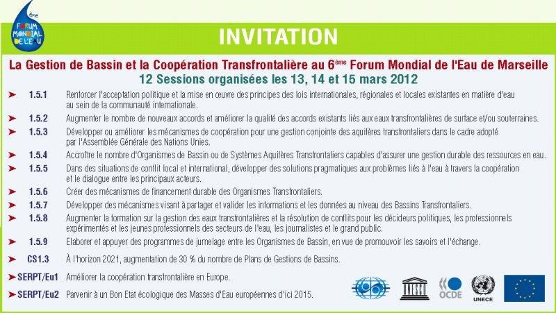 Invitation au Forum Mondial de l'Eau