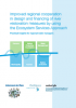Improved regional cooperation in design and financing of river restoration measures by using the Ecosystem Services Approach Practical insights for regional water managers